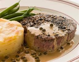 Steak a la pimienta de Mari