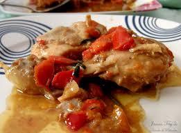 Pimientos con pollo