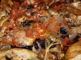 pescado con tomate y tahina al horno