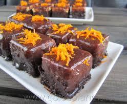 Pastelitos de naranja y chocolate