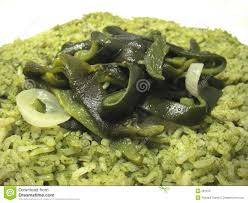 Arroz al chile poblano