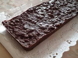 Turrón rápido de chocolate
