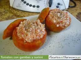Crema de surimi con tomate
