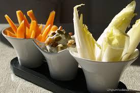 Dips de verduras en roquefort
