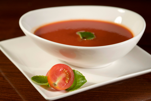 Crema templada de tomate