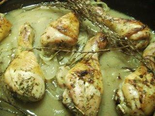 Pollo salteado con hierbas
