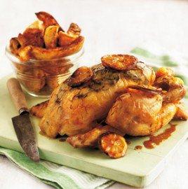 Pollo al azafrán