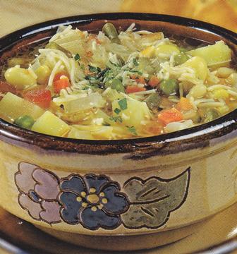 Potaje de verduras con pasta