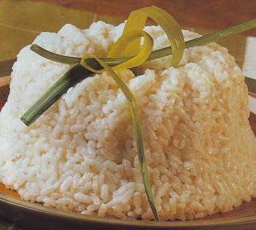 Bavaroise de arroz blanco
