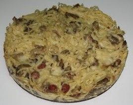 Torta de espaguetis