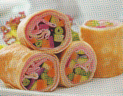 Crepes rellenos de verdura