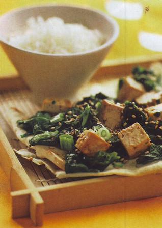 Espinacas con tofu