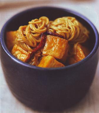 Fideos chinos con tofu