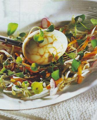 Huevos con crudités