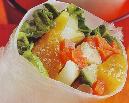 Rollitos de verduras a la naranja