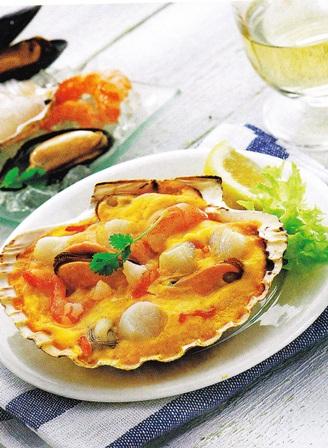 Conchas de frutos del mar
