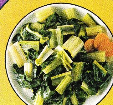 Plato de acelgas con zanahorias