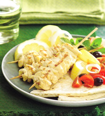 Pinchitos de pollo al limón