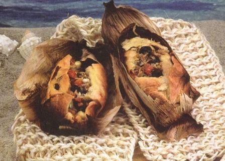 Tamales de atún en hojaldre