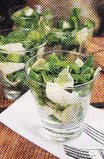 Ensalada de rúcula, peras y queso