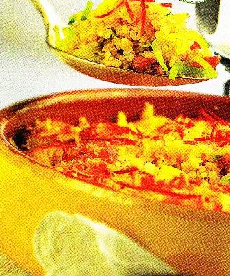 Cazuela vegetariana de arroz