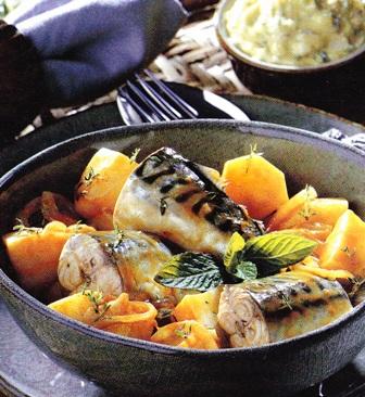 Recetas de pescado azul: Caballa con patatas