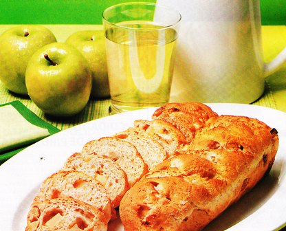 Pan de sidra con manzanas verdes