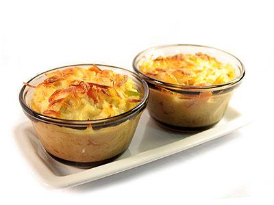 Pastel de arroz con calabacín