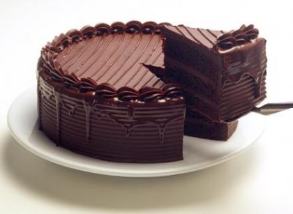 Pastel de chocolate por San Valentín