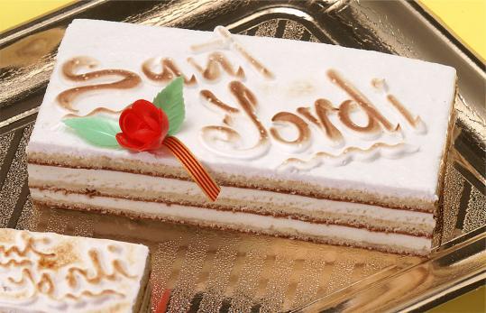 Tarta de San Jordi