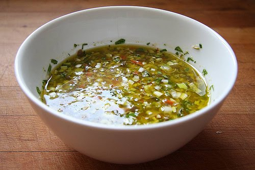 Salsa vinagreta griega