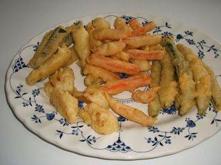 Tempura con verduras