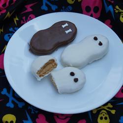 Fantasmas de Halloween (galletas de chocolate)