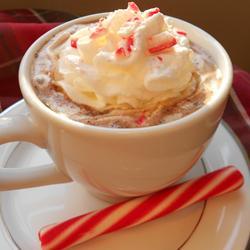 Bastón de caramelo de cacao - Bebida de Navidad