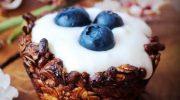 Tartaletas de muesli con yogur